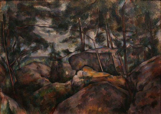 Cezanne, Paul: Rocks in the Forest. Fine Art Print/Poster. Sizes: A4/A3/A2/A1 (004211)